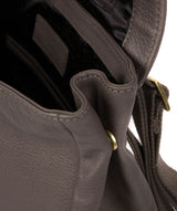 'Maryam' Grey Leather Backpack image 7