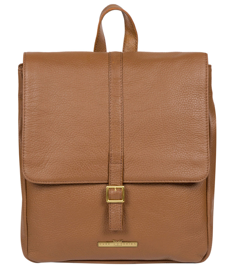 'Maryam' Tan Leather Backpack image 1