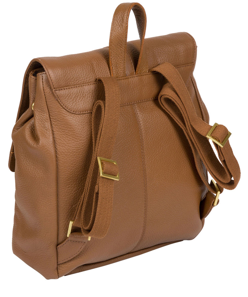 'Maryam' Tan Leather Backpack image 3