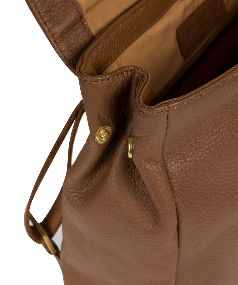 'Maryam' Tan Leather Backpack image 5
