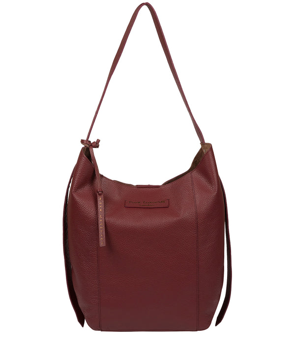 'Hoxton' Burgundy Leather Shoulder Bag image 1