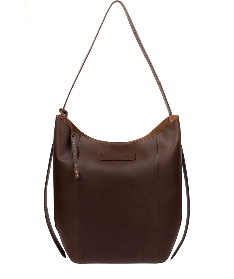 'Hoxton' Chocolate Leather Shoulder Bag image 1