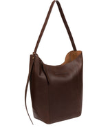 'Hoxton' Chocolate Leather Shoulder Bag image 3