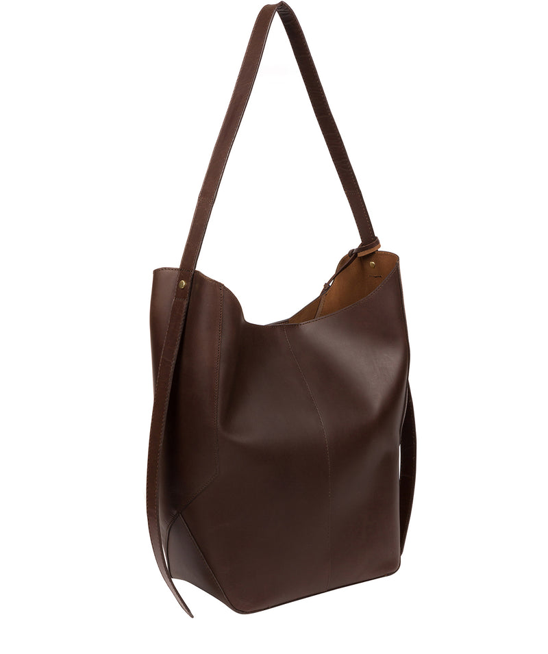 'Hoxton' Chocolate Leather Shoulder Bag image 4