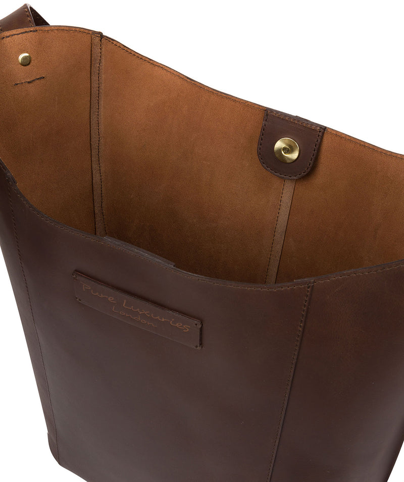 'Hoxton' Chocolate Leather Shoulder Bag image 5