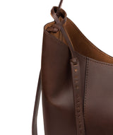 'Hoxton' Chocolate Leather Shoulder Bag image 6