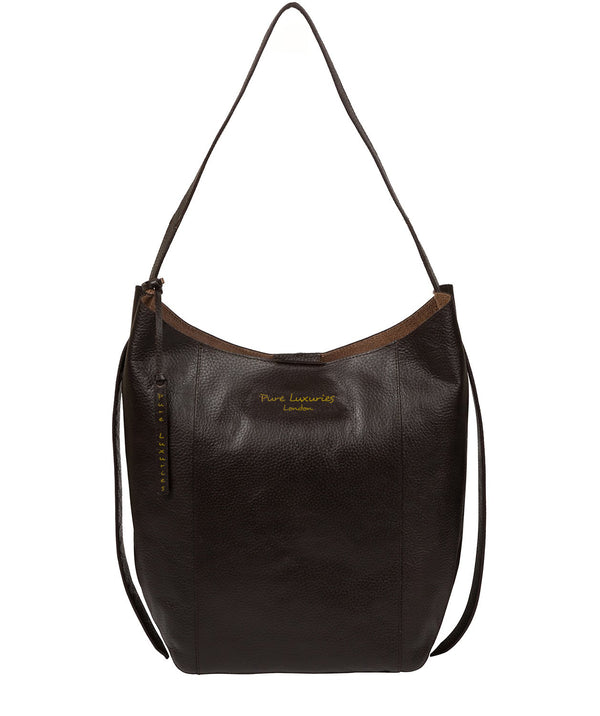 'Hoxton' Dark Brown Leather Shoulder Bag image 1