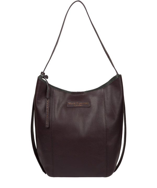 'Hoxton' Plum Leather Shoulder Bag image 1