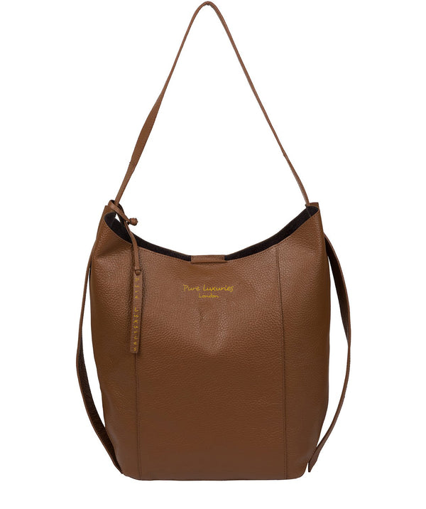 'Hoxton' Tan Leather Shoulder Bag image 1