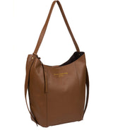 'Hoxton' Tan Leather Shoulder Bag image 5