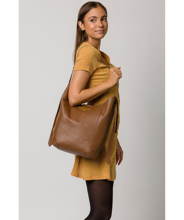 'Hoxton' Tan Leather Shoulder Bag image 2
