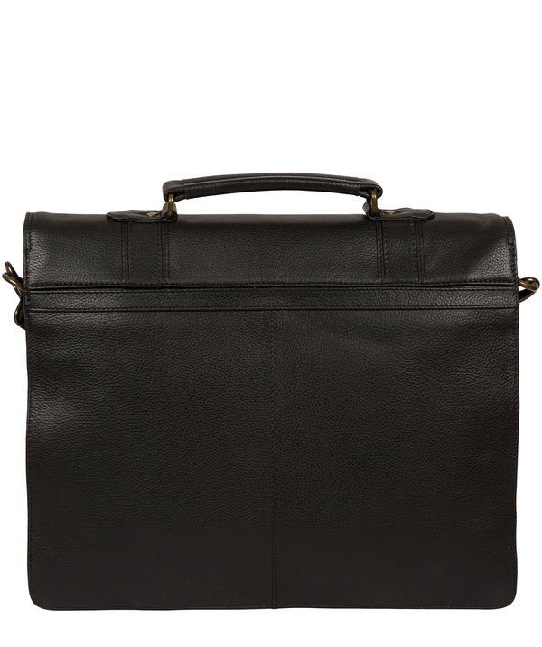 'Baxter' Black Leather Work Bag image 3