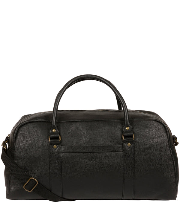 'Monty' Black Leather Holdall image 1