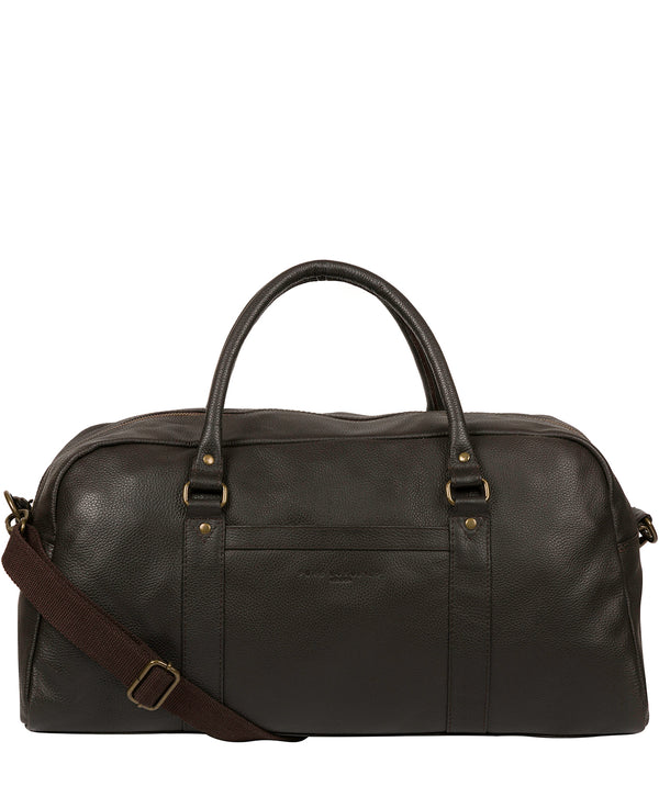 'Monty' Brown Leather Holdall image 1