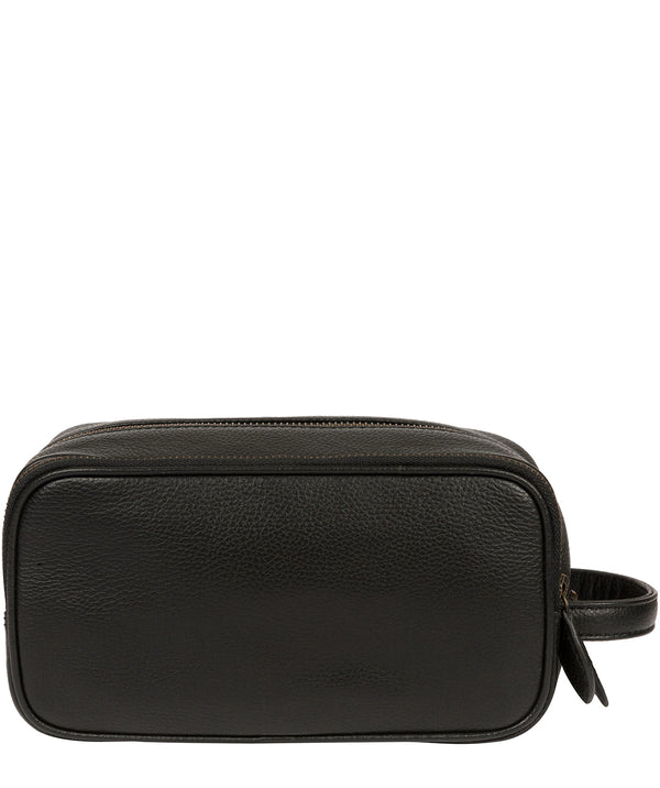 'Reef' Black Leather Washbag image 3