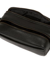 'Reef' Black Leather Washbag image 4
