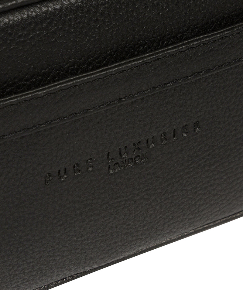 'Reef' Black Leather Washbag image 5