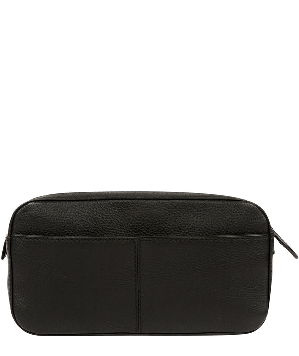 'Jetty' Black Leather Washbag image 3