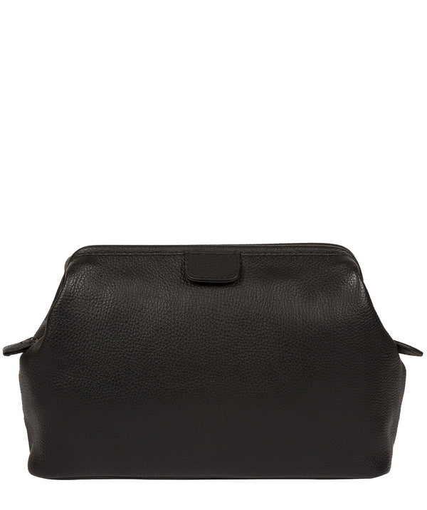 'Fender' Black Leather Washbag image 3
