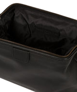 'Fender' Black Leather Washbag image 4