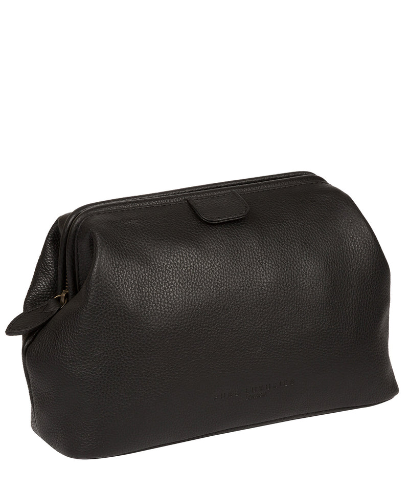'Fender' Black Leather Washbag image 5