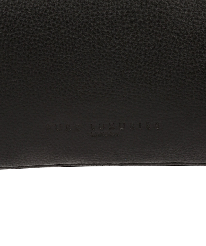'Fender' Black Leather Washbag image 6