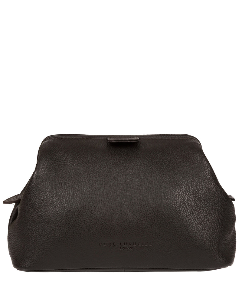 'Fender' Brown Leather Washbag image 1