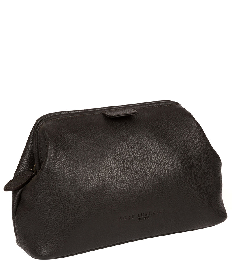 'Fender' Brown Leather Washbag image 5