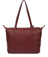 'Oval' Burgundy Leather Tote Bag image 3