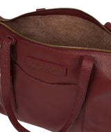 'Oval' Burgundy Leather Tote Bag image 4
