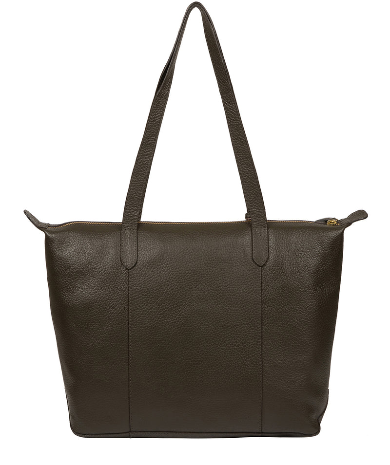 'Oval' Hunter Green Leather Tote Bag image 3