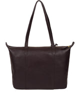 'Oval' Plum Leather Tote Bag image 3