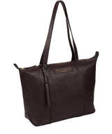 'Oval' Plum Leather Tote Bag image 5