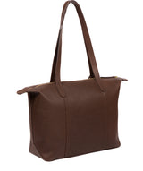 'Oval' Walnut Leather Tote Bag image 3