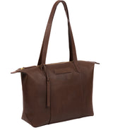'Oval' Walnut Leather Tote Bag image 5