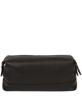 'Joggle' Black Leather Washbag image 3