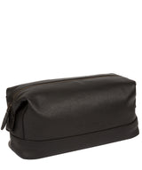 'Joggle' Black Leather Washbag image 5