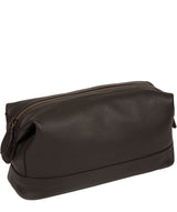 'Joggle' Brown Leather Washbag image 5