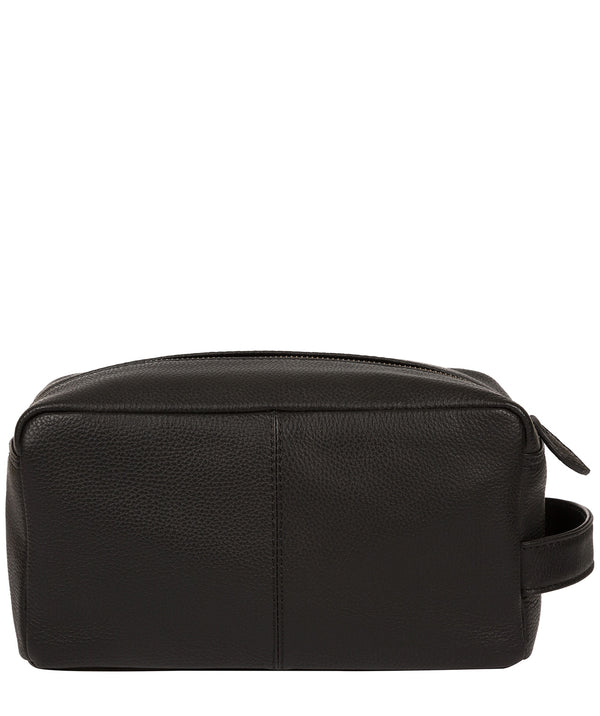 'Keel' Black Leather Washbag image 3