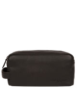 'Keel' Brown Leather Washbag image 1