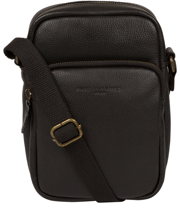 'Skipper' Black Leather Cross Body Bag image 1