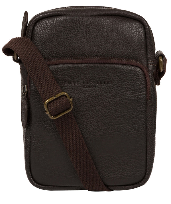 'Skipper' Brown Leather Cross Body Bag image 1