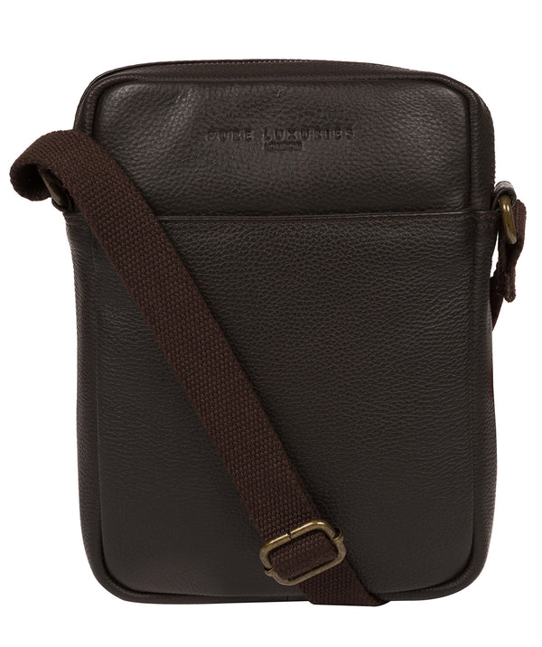 'Starboard' Brown Leather Cross Body Bag image 1