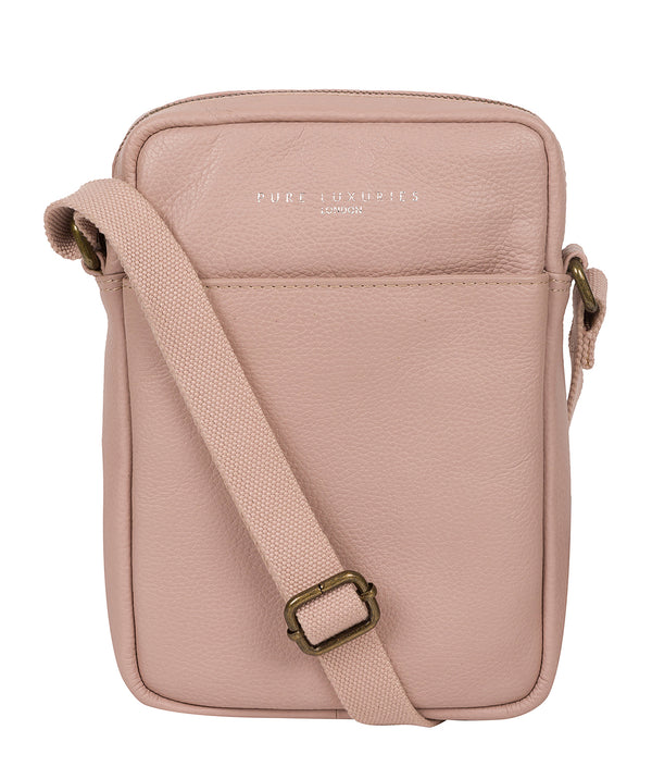 'Starboard' Pink Leather Cross Body Bag
