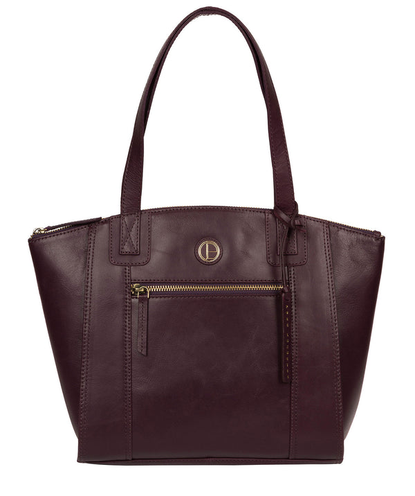 'Ashbourne' Blackberry Leather Tote Bag image 1