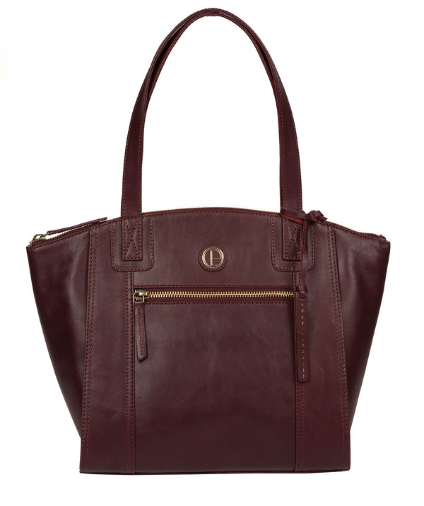 'Ashbourne' Burgundy Leather Tote Bag image 1