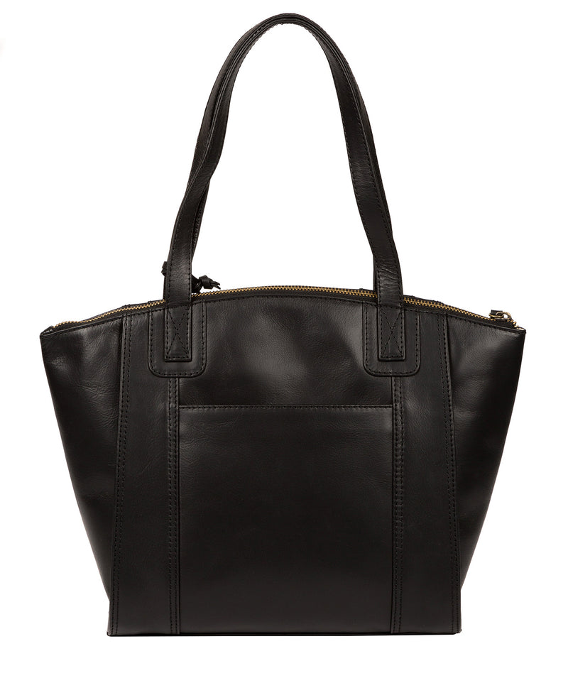 'Ashbourne' Vintage Black Leather Handbag image 3