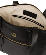 'Ashbourne' Vintage Black Leather Handbag image 4