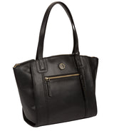 'Ashbourne' Vintage Black Leather Handbag image 5
