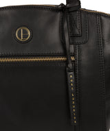 'Ashbourne' Vintage Black Leather Handbag image 6